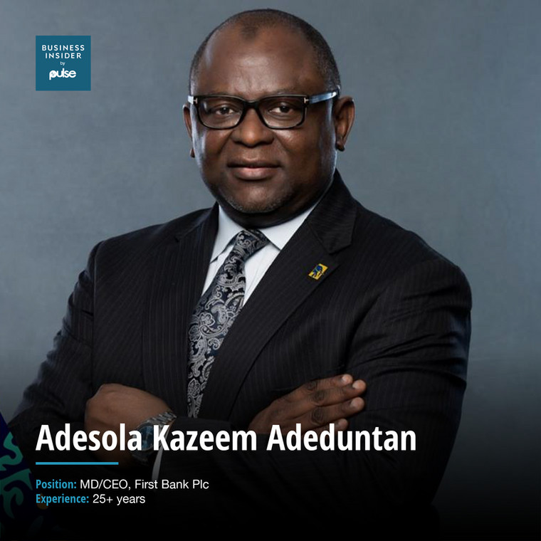 Adesola Kazeem AdeduntanMD/CEO, First Bank Plc