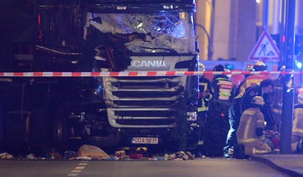 Ciężarówka na polskich numerach rejestracyjnych