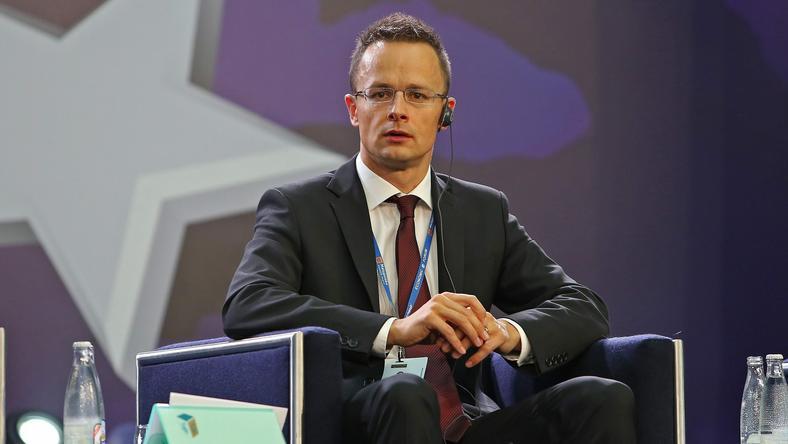 Peter Szijjarto - szef dyplomacji Węgier