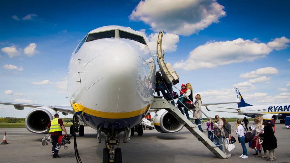 40 osób nie odleciało z Modlina do Eindhoven samolotem Ryanair