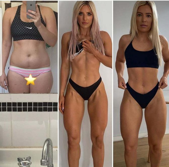Sofi je u potpunosti transformisala telo za 12 meseci