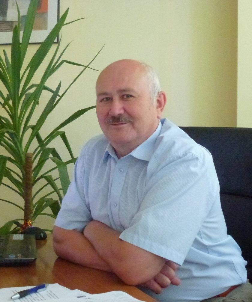 Dyrektor Janusz Wróbel, dyrektor szpitala im. Falkiewicza na wrocławskim Brochowie