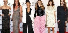 Piękne i modne na imprezie w Nowym Jorku