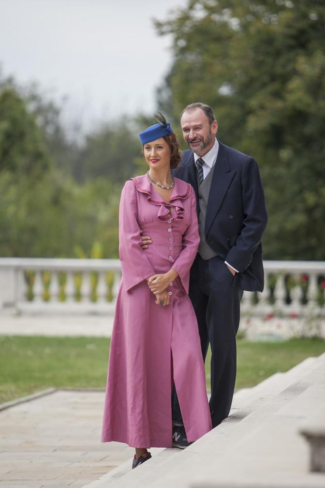 Jelena Ćuruvija sa suprugom Aleksandrom Đuricom