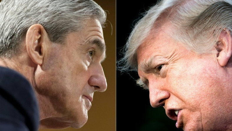 Russia collusion investigation head Special Counsel Robert Mueller (L), and President Donald Trump: Trump's choice of conservative lawyer William Barr to be attorney general could threaten Mueller's probe