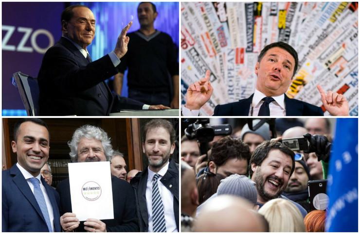 Kolaž Italija izbori AP