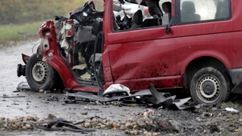 Wypadek polskiego busa w Biddinghuizen, fot. AFP