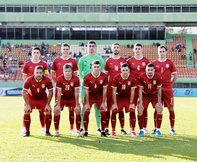 Fudbalska reprezentacija Srbije protiv Dominikane