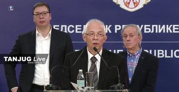 Aleksandar Vučić, Predrag Kon, Mijomir Pelemiš