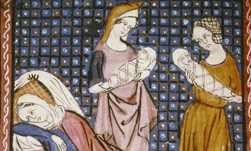 W średniowieczu wiele porodów kończyło się śmiercią matki lub dziecka, bądź obojga.