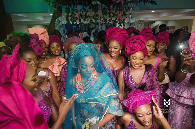 Bam Bam at her traditional wedding ceremony in Lagos