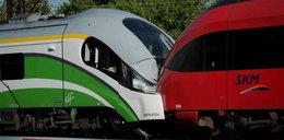 Czołowe zderzenie pociągów w Warszawie