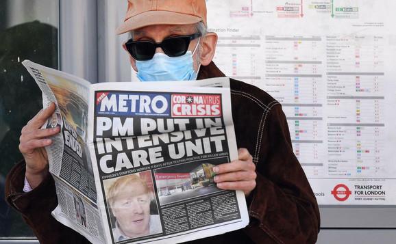 Velika Britanija je prve zaražene (9) imala 15. februara, u petoj nedelji preko 5.00, sada ih je 51.608, među njima je i Boris Džonson