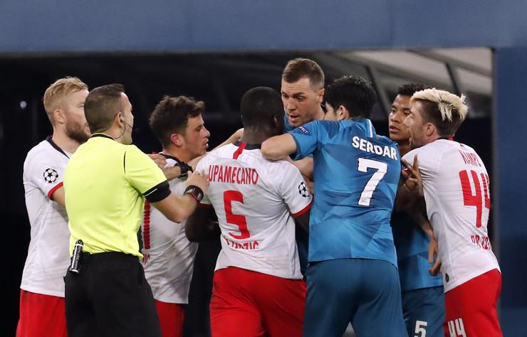 Detalj sa utakmice Zenit, Lajpcig