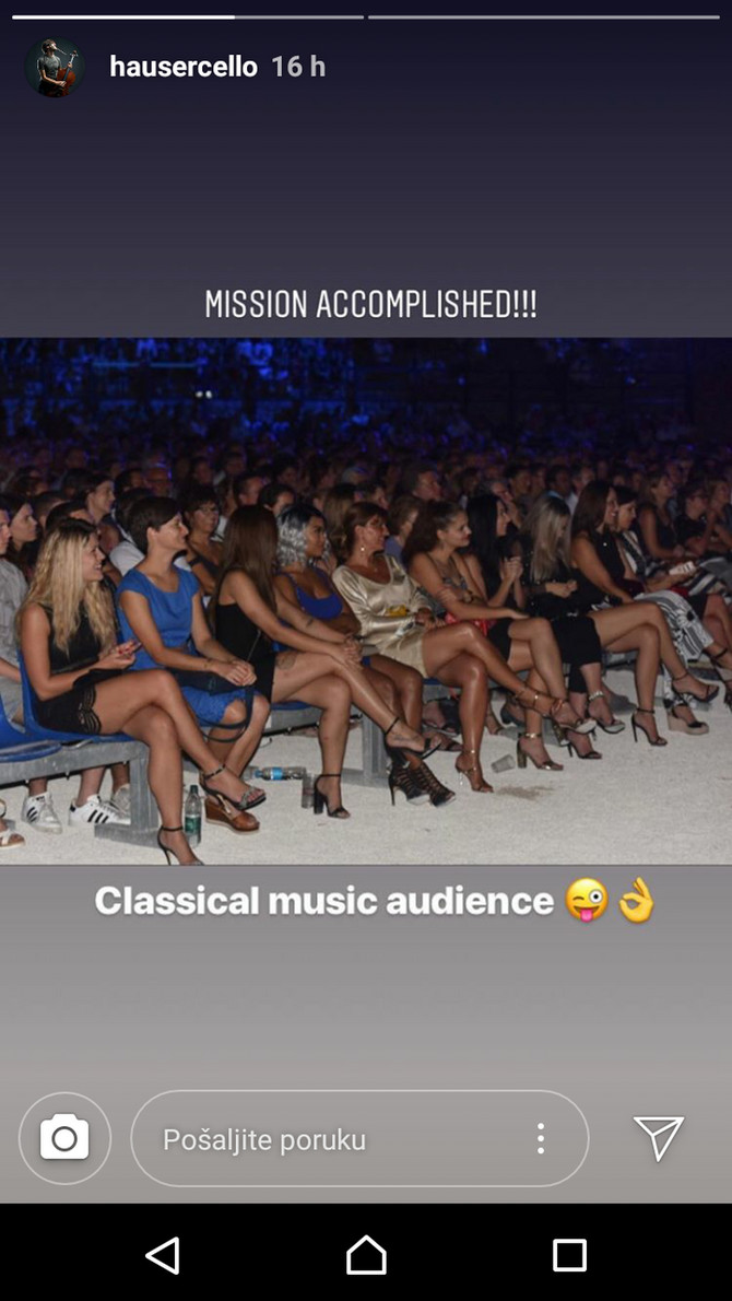Stjepan se na Instagramu pohvalio svojom publikom