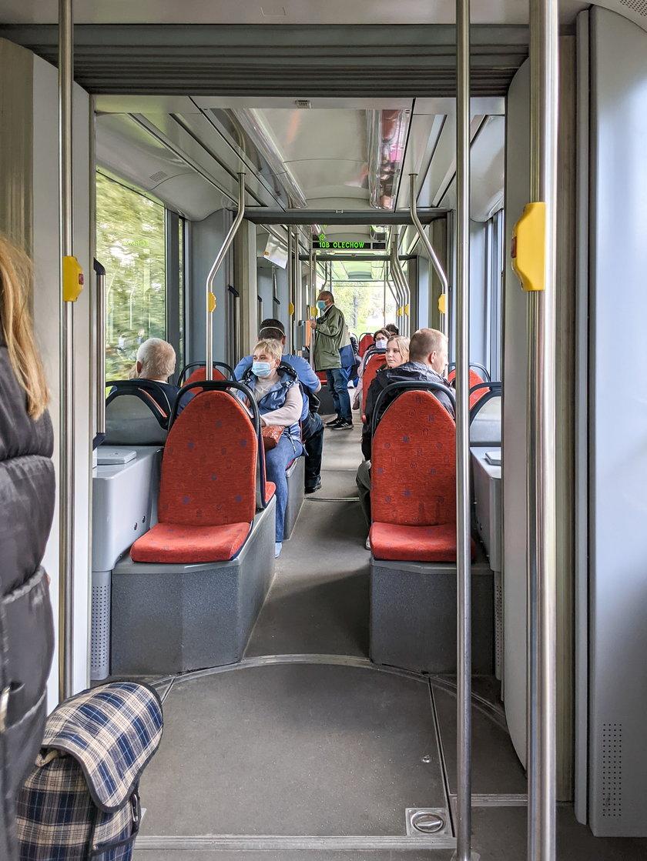 Wnętrze tramwaju Variotram