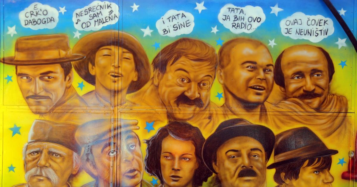 Prelepi mural sa dekama tera nas da se zamislimo o ivotu for Mural u vukovarskoj ulici