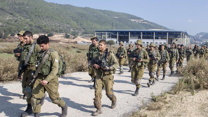 Patrolujący zołnierze Izraela