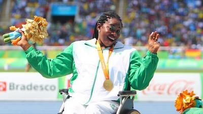 Team Nigeria grabs another Gold Medal as Flora Ugwunwa finishes first in a Javelin event