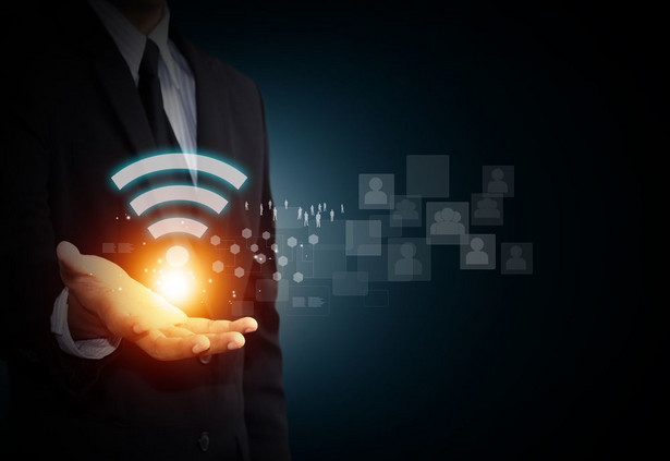 Router, symbol WiFi