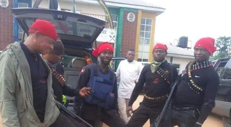 Local vigilante group rescues police officer from kidnappers