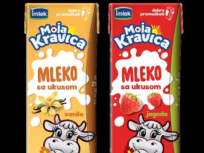 Novo Moja Kravica mleko sa ukusom Jagoda ili vanila – koji je tvoj izbor?
