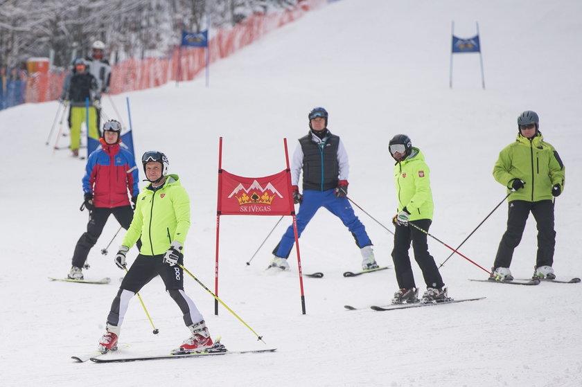 Prezydent znowu na nartach