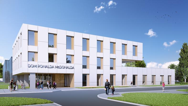 Tak będzie wyglądał Dom Ronalda McDonalda przy szpitalu WUM (wizualizacja)
