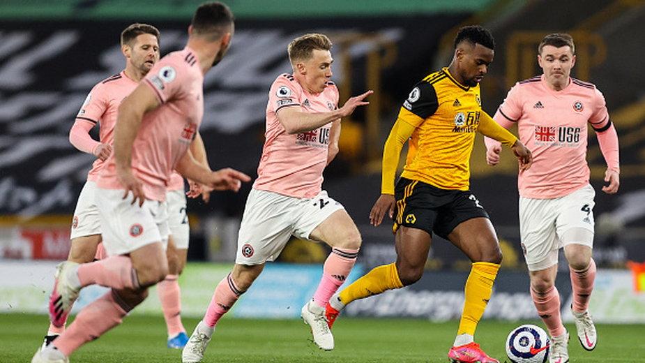 Nelson Semedo w meczu Wolverhampton z Sheffield United