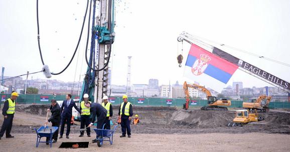 Beograd na vodi - kamen temeljac
