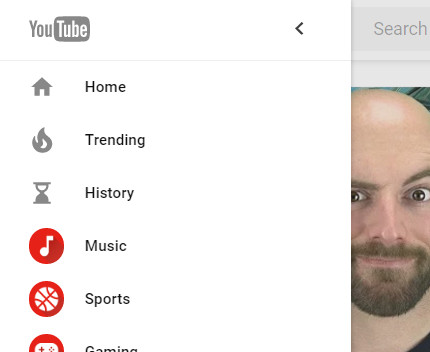 Nowe menu YouTube'a