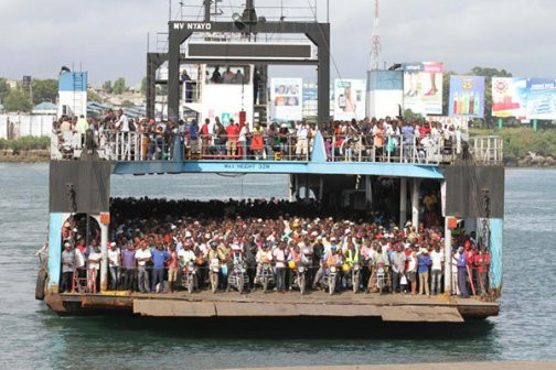 The Likoni crossing channel