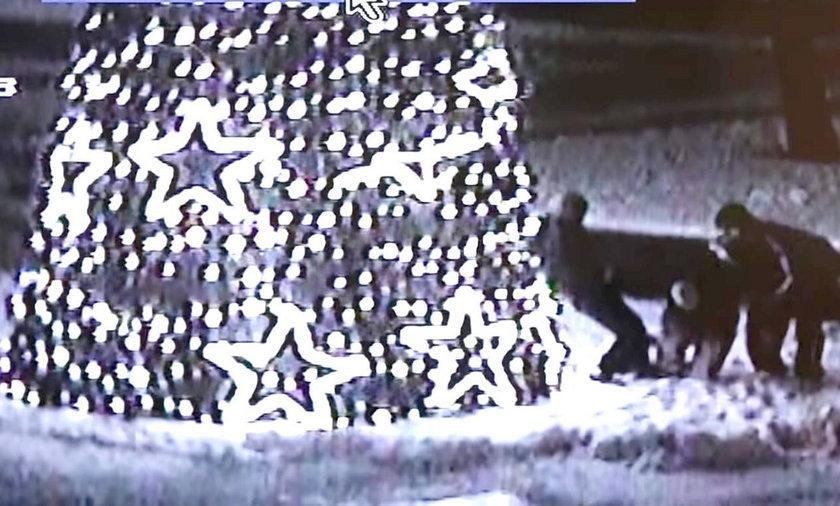 Mieszkańcy Bełchatowa wspinali się na miejską choinkę