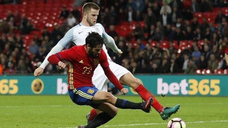 Spain's Isco scores their second goal  Action Images via Reuters / Carl Recine Livepic EDITORIAL USE ONLY.