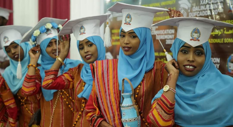 Somali National University Graduation.