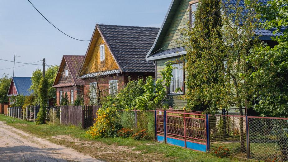 Tradycyjna zabudowa we wsi Soce na Podlasiu