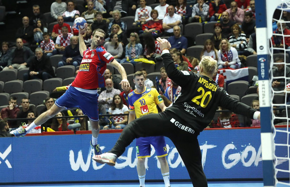 Dobrivoje Marković na meču sa Švedskom