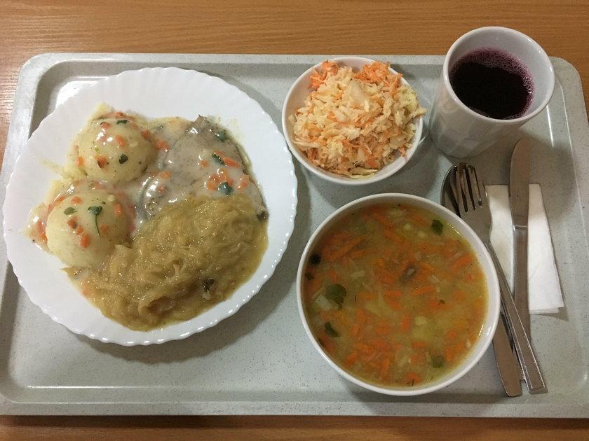 Oto szpitalny obiad pani premier