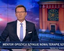"""Prowadzone przez Krzysztofa Ziemca """"Wiadomości"""" starciły w październiku br. najwięcej widzów"""
