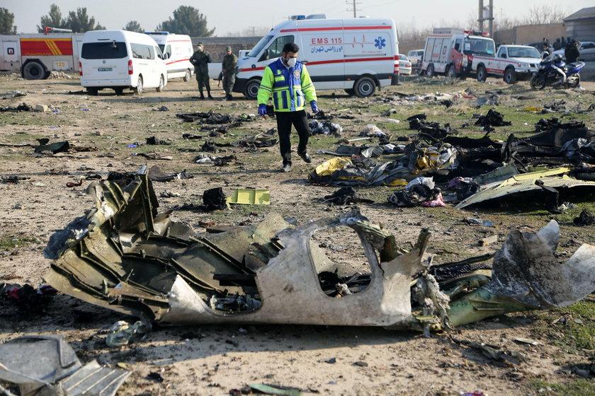 Ukraiński samolot zestrzelony w Iranie