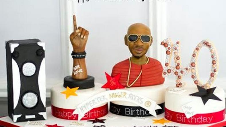 2face's 40th birthday cake from Annie Idibia