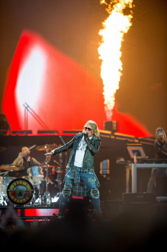 Guns N' Roses na koncercie w Gdańsku