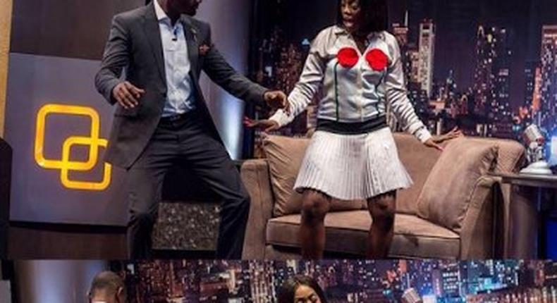 IK Osakioduwa gets twerking lessons from Tiwa Savage