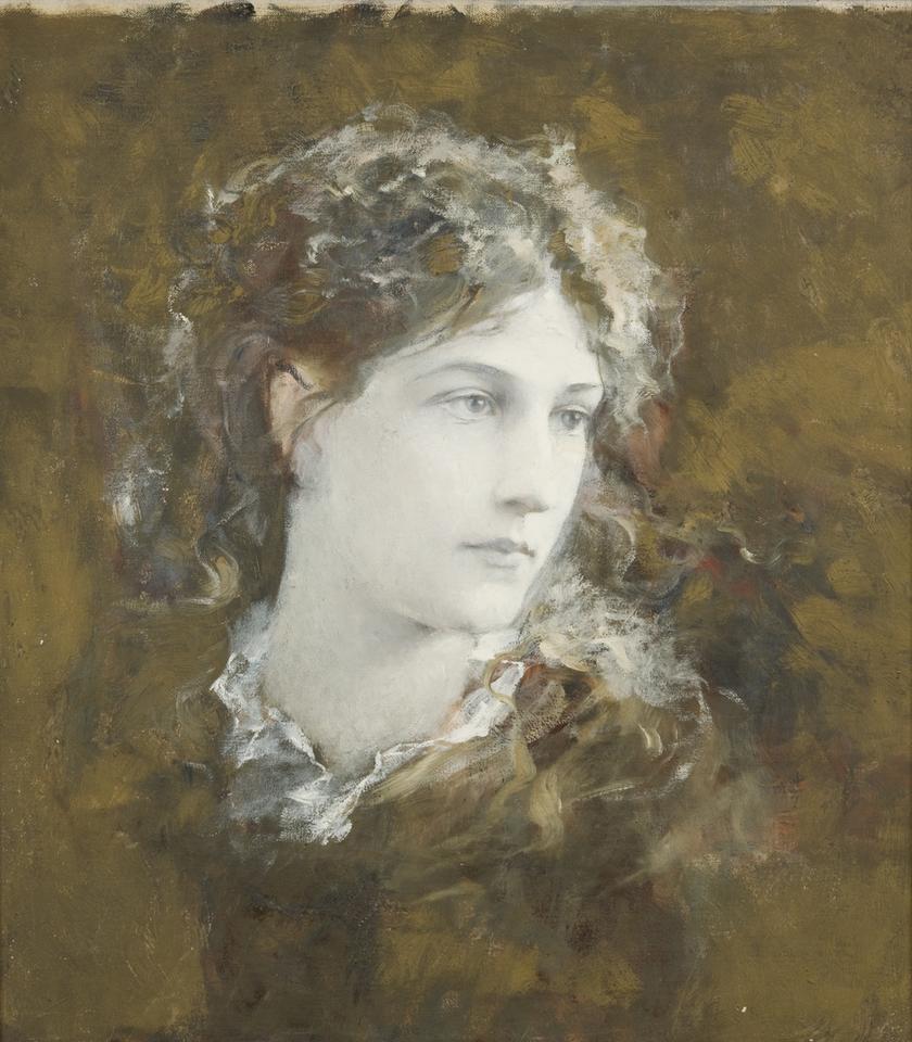 Franciszek Krudowski, Portret Heleny Modrzejewskiej, ok. 1880,olej na płótnie, fot. MNK