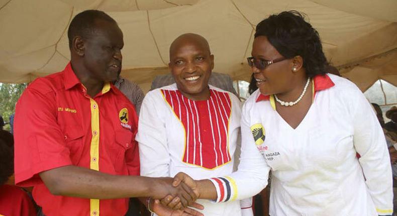 File Image of Meru Woman Rep Kawira Mwangaza at a campaign rally in 2017
