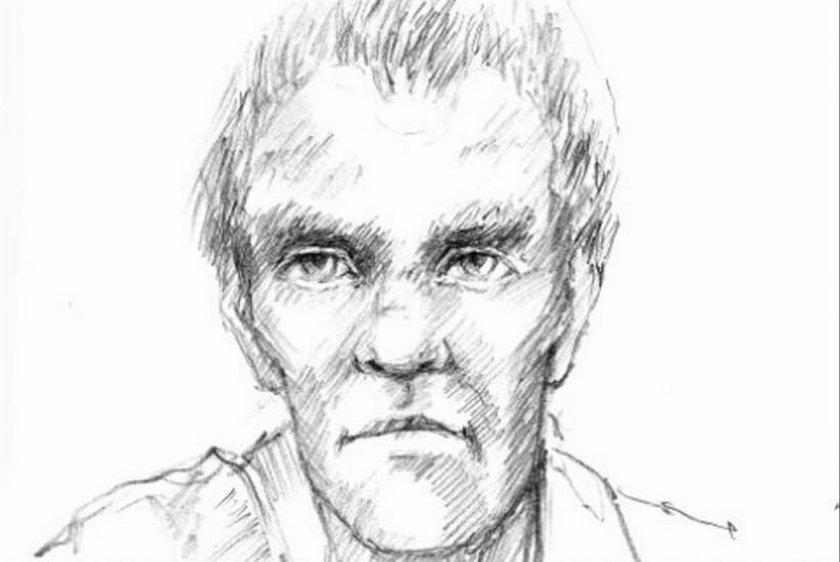 Portret pamięciowy mężczyzny z ręcznikiem