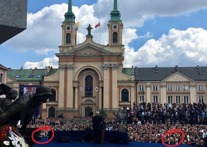 Plac Krasińskich w Warszawie podczas przemówienia Donalda Trumpa
