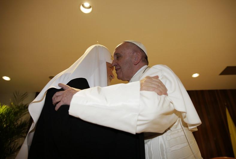 Papież Franciszek z patriarchą Cyrylem