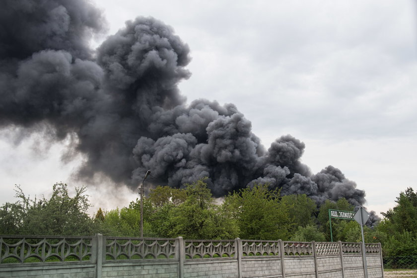 Pożar w Katowicach