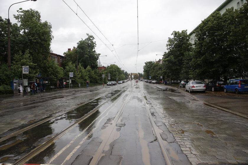 Torowisko na ul. M. Skłodowskiej-Curie we Wrocławiu